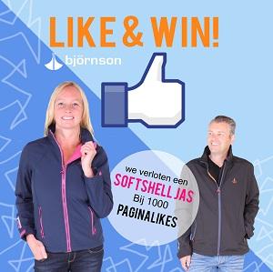 Like Bjornson op Facebook en WIN!