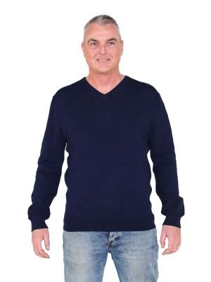 Pullover V-Hals Heren Donkerblauw