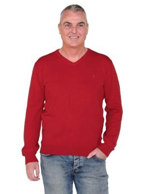 Pullover V-Hals Heren Rood