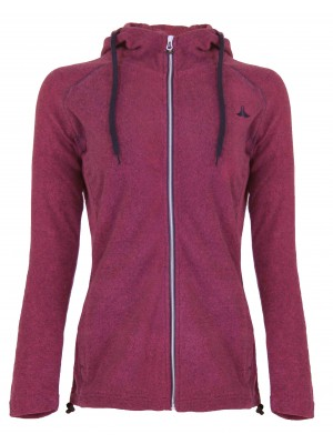 Hooded Fleece Vest 4 Seizoenen Dames Roze - 36-56 - JOLINA