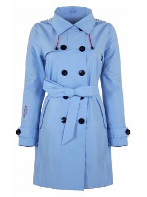 Bjornson Trenchcoat Dames Lichtblauw - Mira