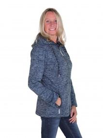 Gebreid Vest Dames 4 seizoenen Donkerblauw melange - 36-56 - LAURA