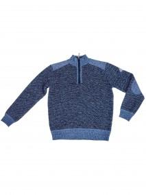 BJØRNSONFijnGebreid Pullover (fleece-gevoerd)Heren Donkerblauw - S-4XL - THYMO