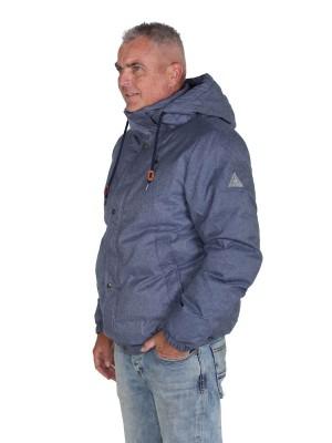 BJØRNSON Winterjas Heren Warm gewatteerd Denimblauw melange - S-6XL - BRUNO