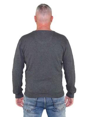 Pullover V-Hals Heren Antraciet Grijs