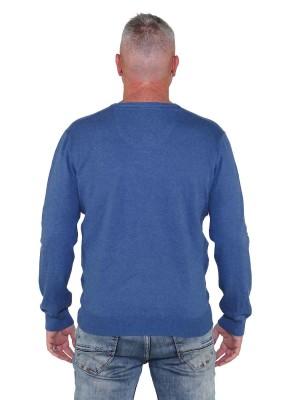 Pullover V-Hals Heren Blauw Royaal