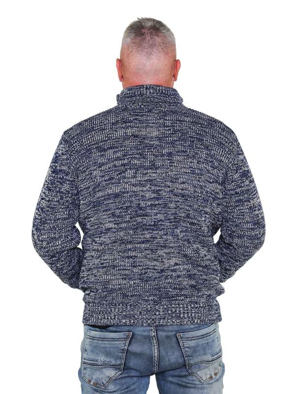 BJØRNSON Gebreid Vest Heren Acryl Donkerblauw melange - S-6XL - NOUD