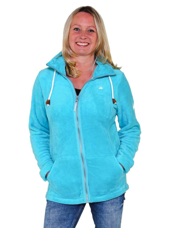 Fleece Vest Coral Dames Warm Zacht Blau Atol