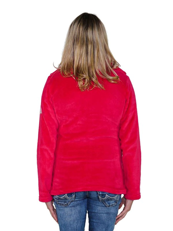 Fleece Vest Coral Dames Warm Zacht Fuchsia Roze