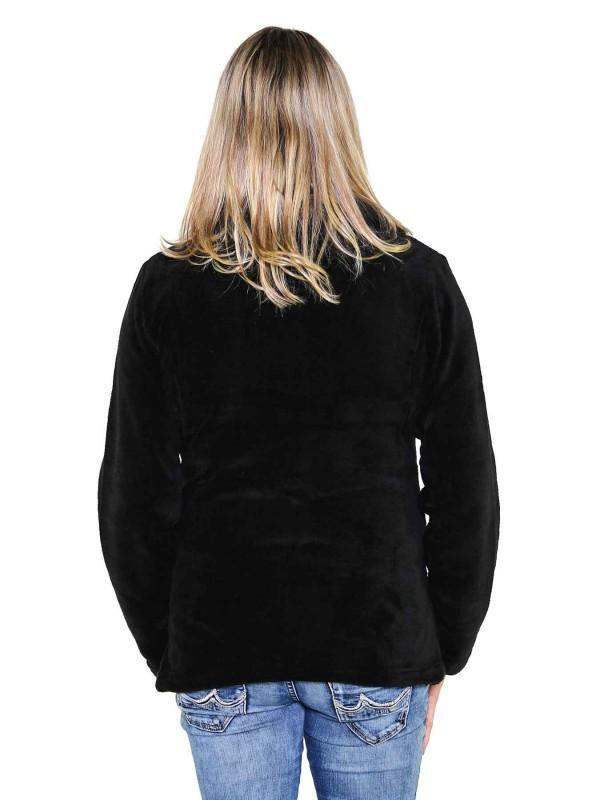 Fleece Vest Coral Dames Warm Zacht Zwart