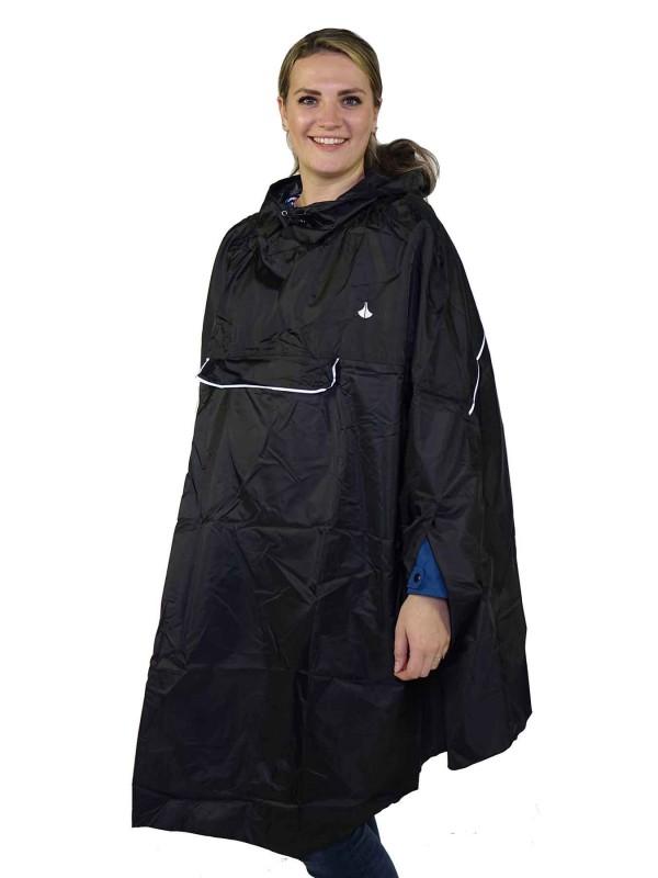 Regenponcho Unisex Waterdicht Zwart - One Size - Haps