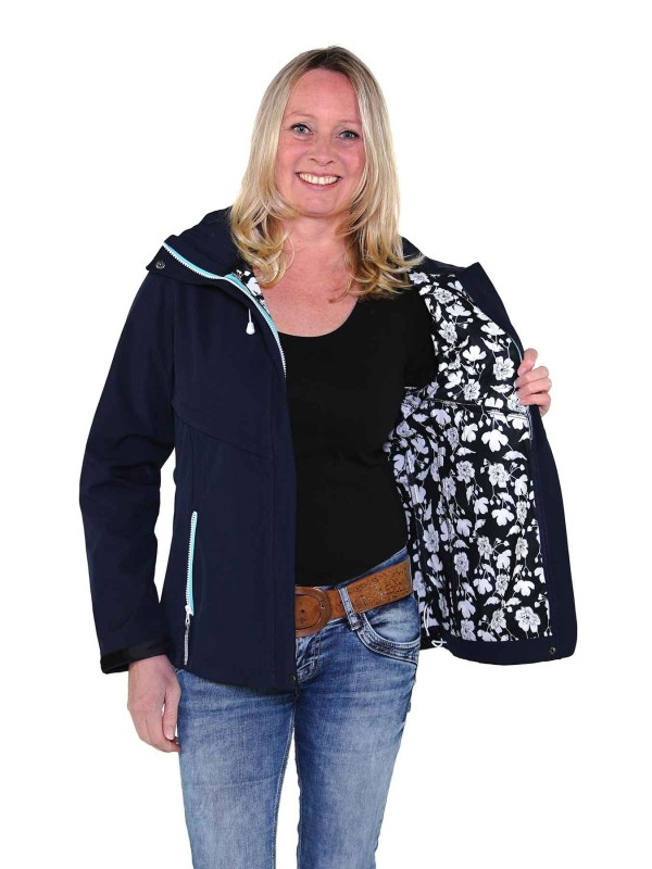 Softshell Jas Dames Waterafstotend Donkerblauw - Thyra