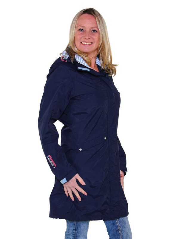 Bjornson Trenchcoat Dames Donkerblauw - Therese