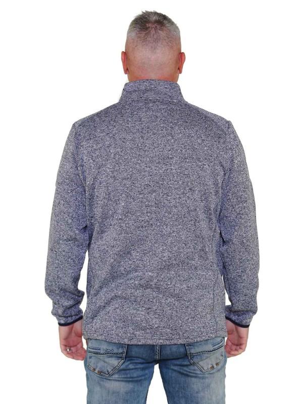 Vest Gebreid Heren Warm Donkerblauw