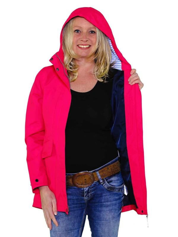 BJØRNSON Zomerjas (regenjas) Dames Waterdicht Roze Fuchsia