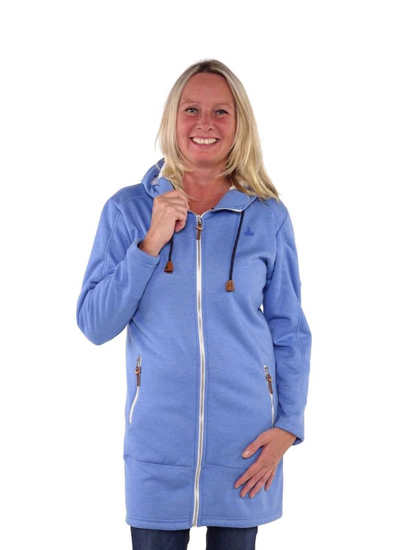 Bjornson Noors Lang Vest Teddy Gevoerd Dames Lichtblauw - Ania