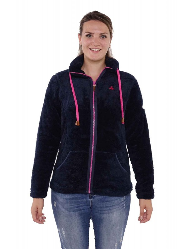 Bjørnson Fleece Vest Super Soft Dames Donkerblauw - Elin