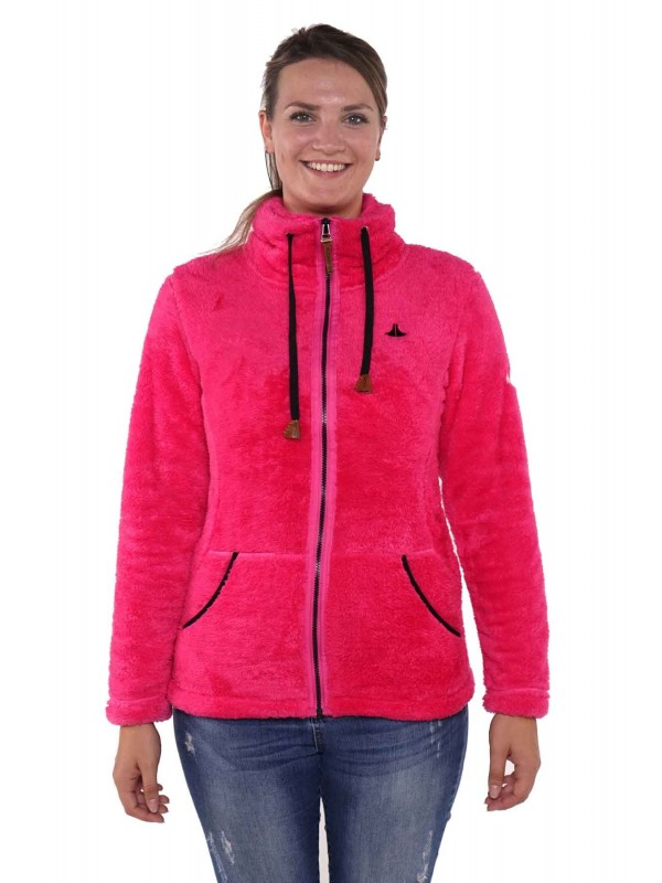BJØRNSON Fleece Vest Super Soft Dames Roze Fuchsia - Elin