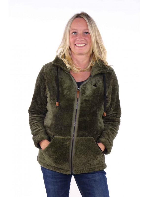 Bjørnson Fleece Vest Super Soft Dames Olijfgroen - Elin