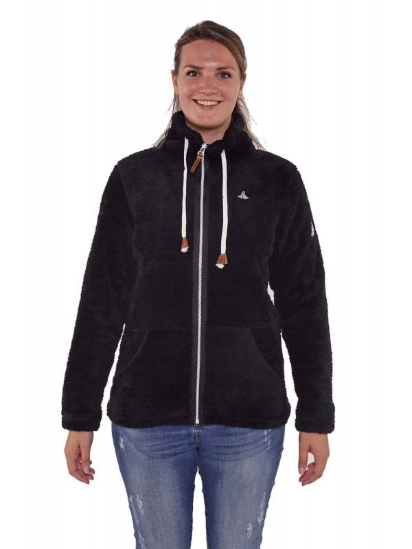 Bjørnson Fleece Vest Super Soft Dames Zwart- Elin