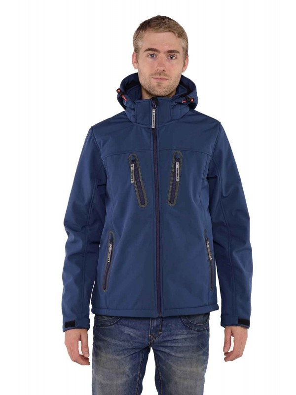 Bjørnson Softshell Jas Winter Heren Blauw - Joppe