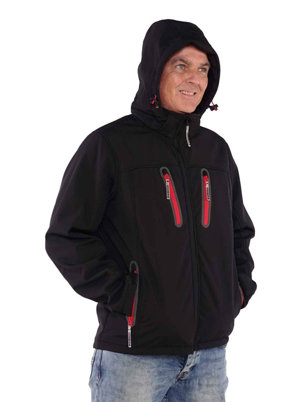 Bjørnson Softshell Jas Winter Heren Zwart - Joppe