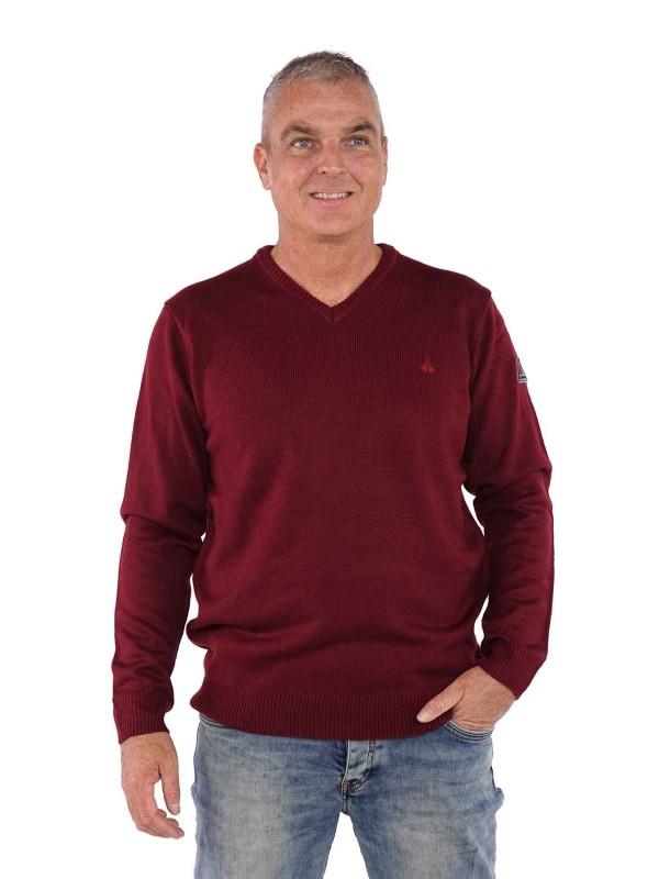 Pullover v hals bordeaux rood kopen? Bjornson.nl €39,95
