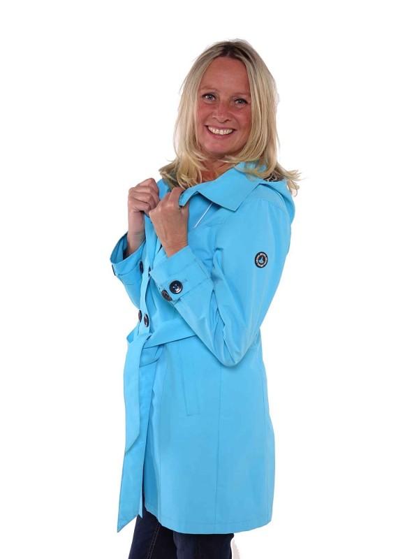 Bjornson Trenchcoat Dames Blauw Atol - Mira
