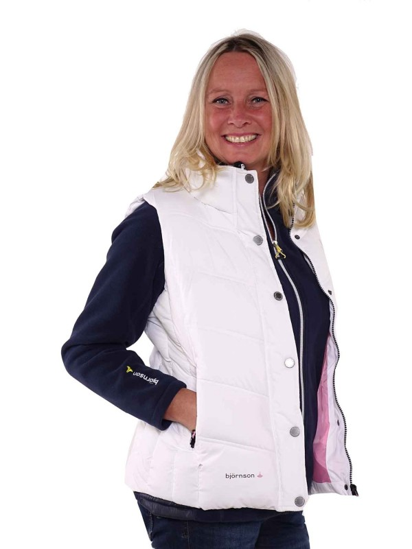 Bjornson Bodywarmer Dames Wit - Ronja