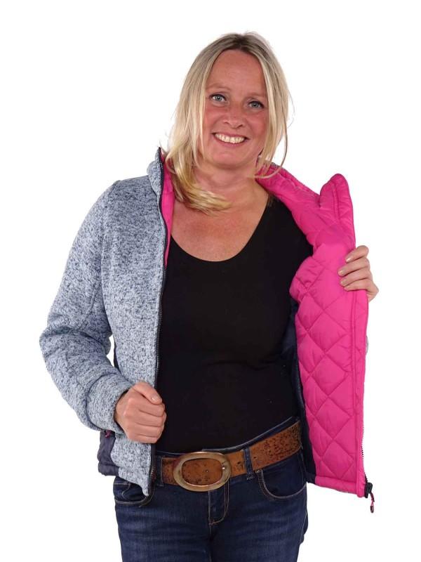 Bjornson Vest Winddicht Reversible Dames Blauw Roze - Swann