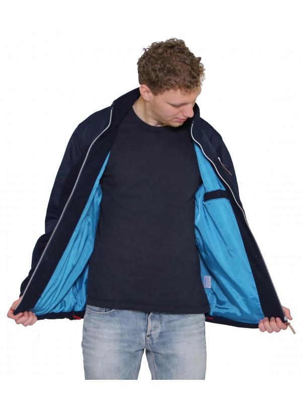 mode stijl op groothandel enorme verkoop FLEECE VEST WINDDICHT HEREN Donkerblauw - Morten