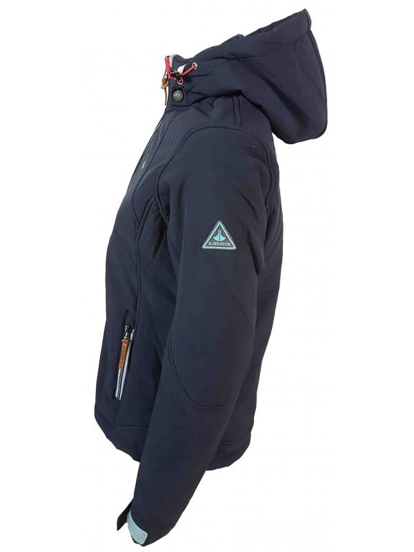 bdd6d460ae8cfc bjornson nora - softshell jas teddy gevoerd - dames - donkerblauw - links.jpg