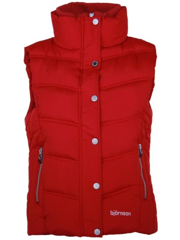 Rode Dames Zomerjas.Bodywarmer Dames Rood Kopen Bjornson Nl 29 95