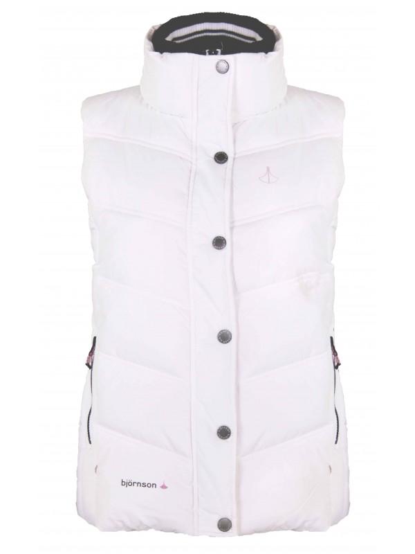 Witte Dames Winterjas.Bodywarmer Dames Wit Kleur Kopen Bjornson Nl 29 95
