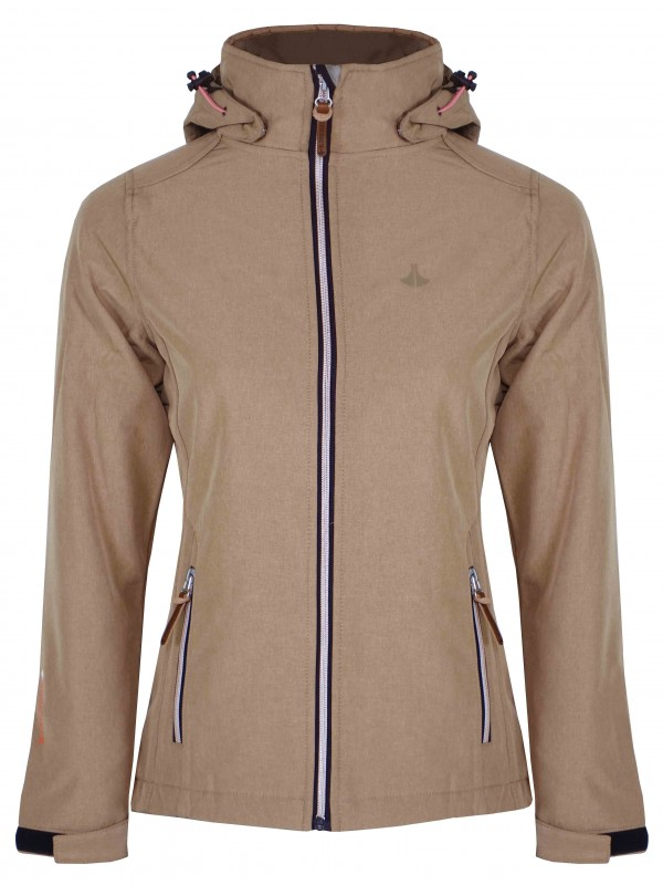 SOFTSHELL JAS DAMES taupe- Silje