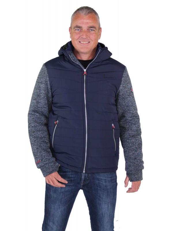 Blauw gebreid vest winddicht voor heren kopen? Bjornson.nl