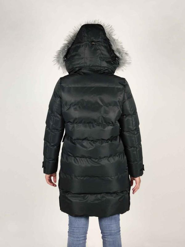 BJØRNSON Winterjas Warm Gewatteerd Dames Zwart - 36-52 - FRIDA