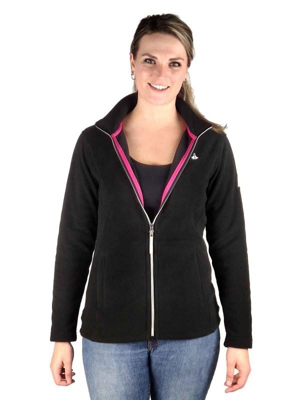Fleece Vest 4 Seizoenen Dames Zwart - 36-56 - JENNA
