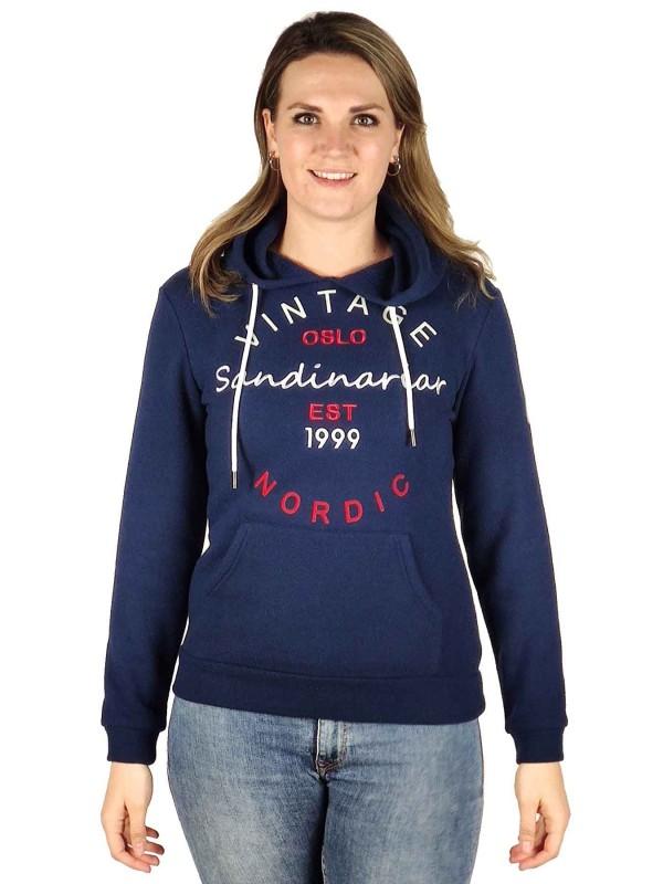 BJØRNSON Hooded Sweater 4 Seizoenen Dames Donkerblauw - 36-52 - JULIA