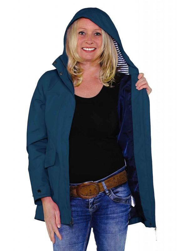 BJØRNSON Zomerjas (regenjas) Dames Waterdicht Blauw