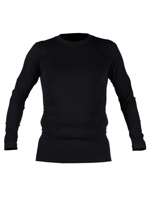 Zwart thermoshirt met lange mouwen