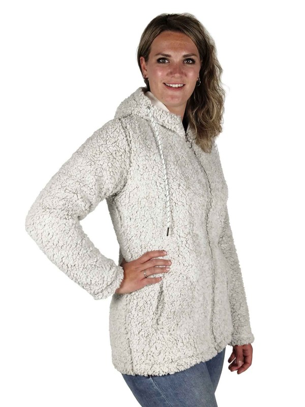 BJØRNSON Sherpa Fleece Vest Zacht / 4 Seizoenen Dames Grijs Melange - 36-52 - XANDRA