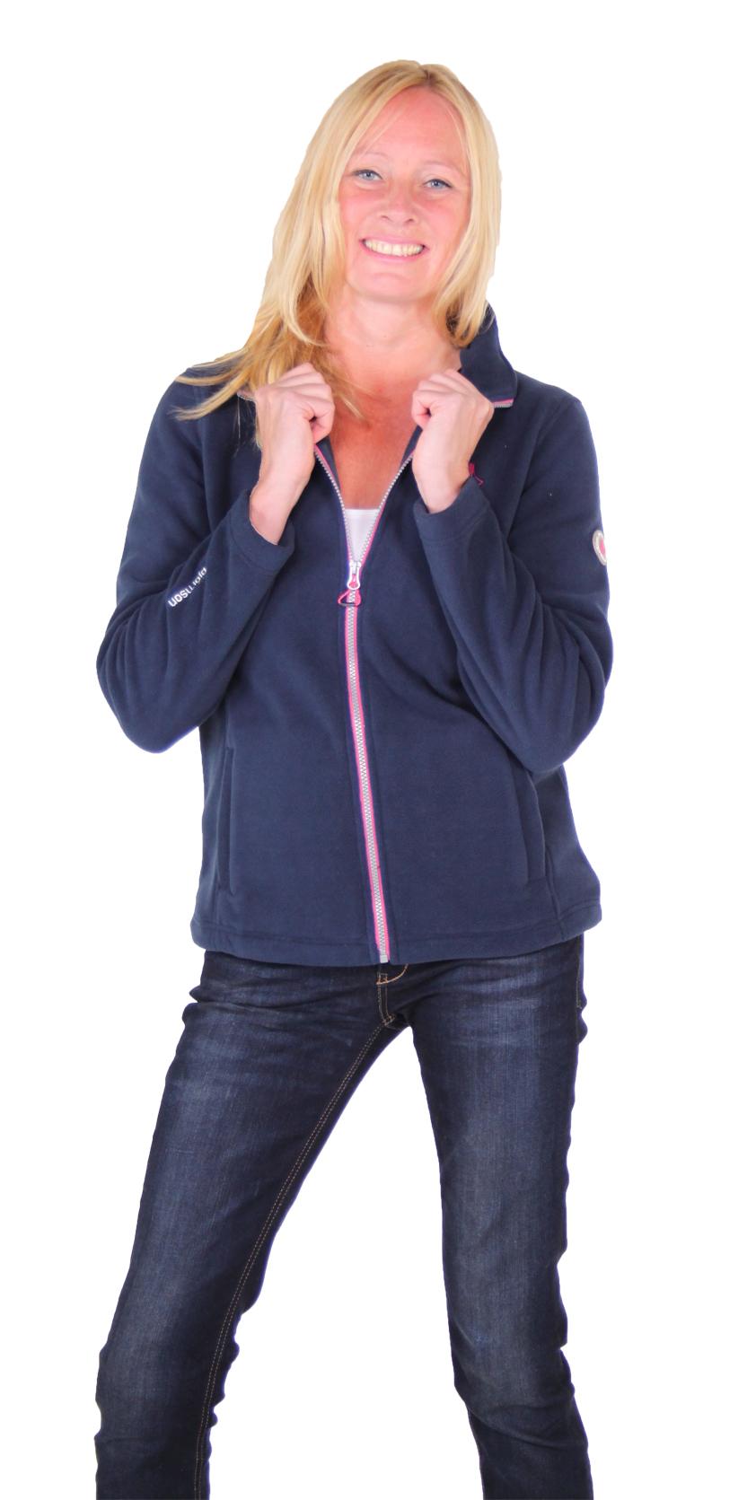 Bjornson donkerblauw dames fleece vest bestellen - Jenna
