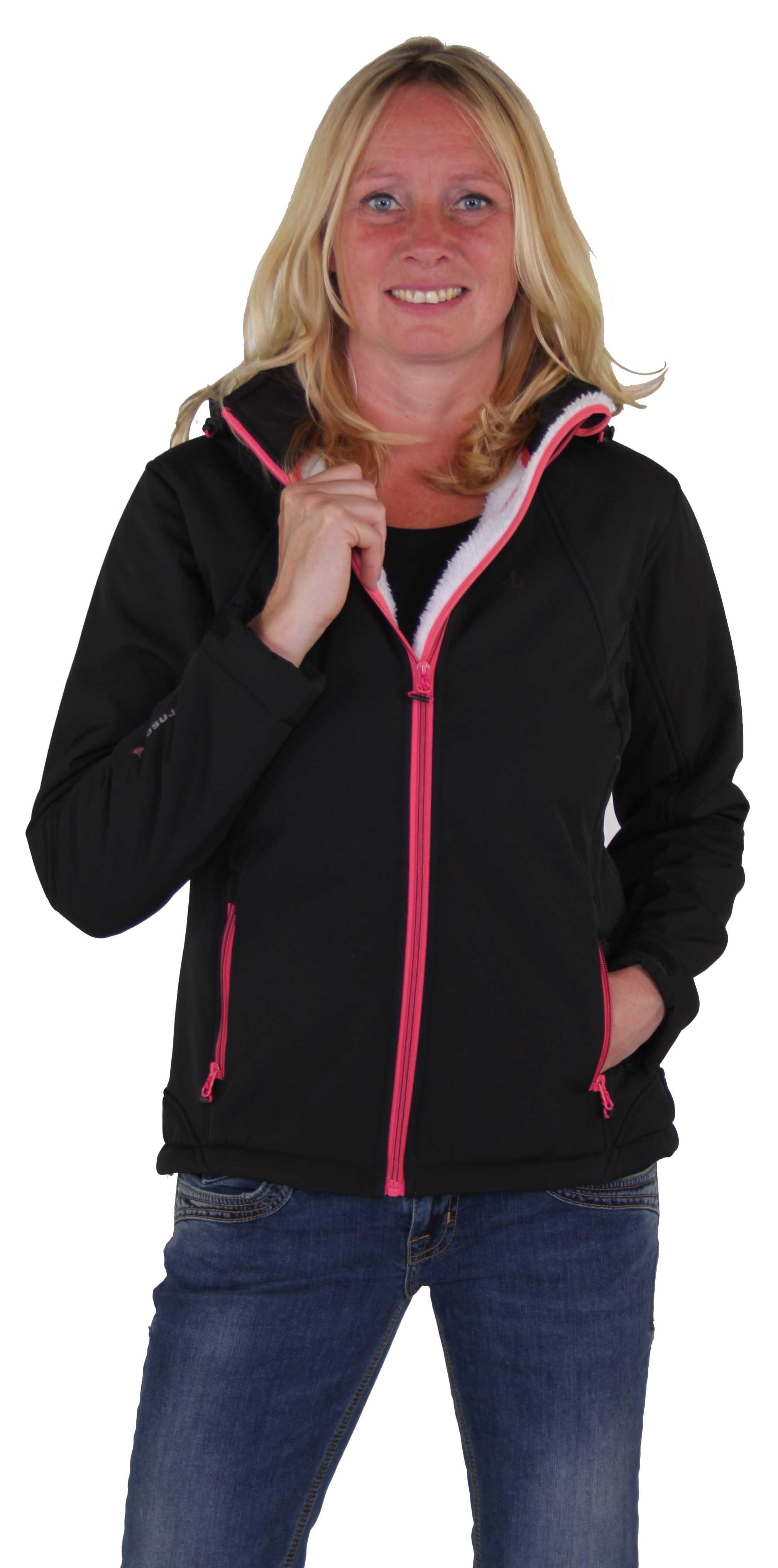 Zwarte teddy gevoerde dames softshell jas winter kopen? - Outdoorkleding - Bjornson.nl